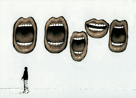 Graphic of open mouths