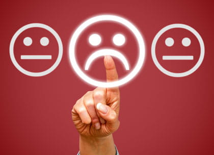 Online rating on smiley faces